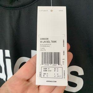 adidas Tops - ADIDAS Black White Graphic Muscle Tank Medium NWT